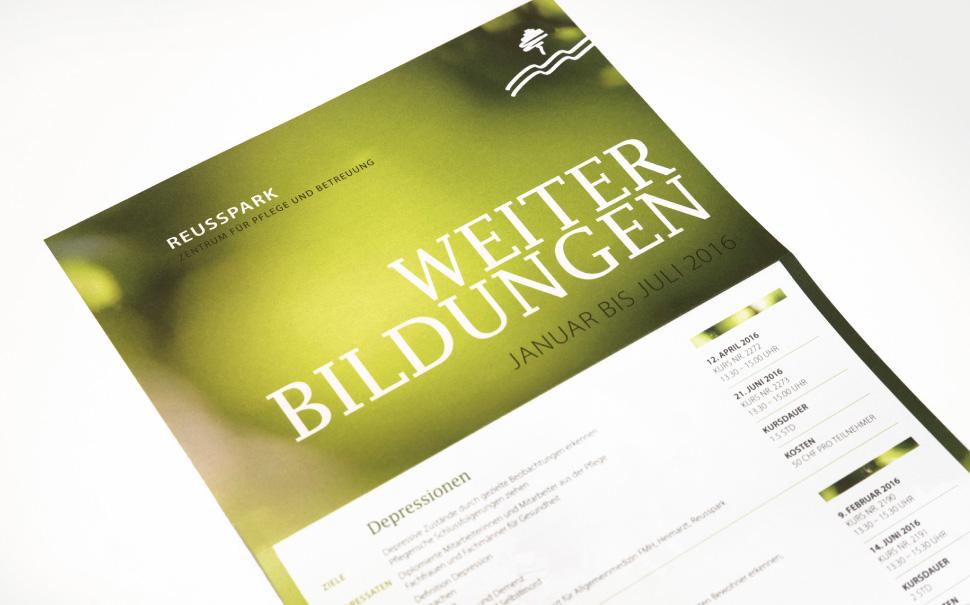 Reusspark werbeagentur k ttel laubacher for Weiterbildung grafikdesign